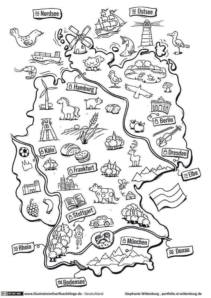 Download als PDF:Deutschland – Deutschlandkarte – Wittenburg
