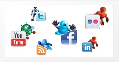 Social Robotic » Leuke set met sociale iconen die voorzien zijn van robots. Deze set bestaat uit 30 iconen in een maximum resolutie van 128×128 pixels. De robots zijn ook los te gebruiken.