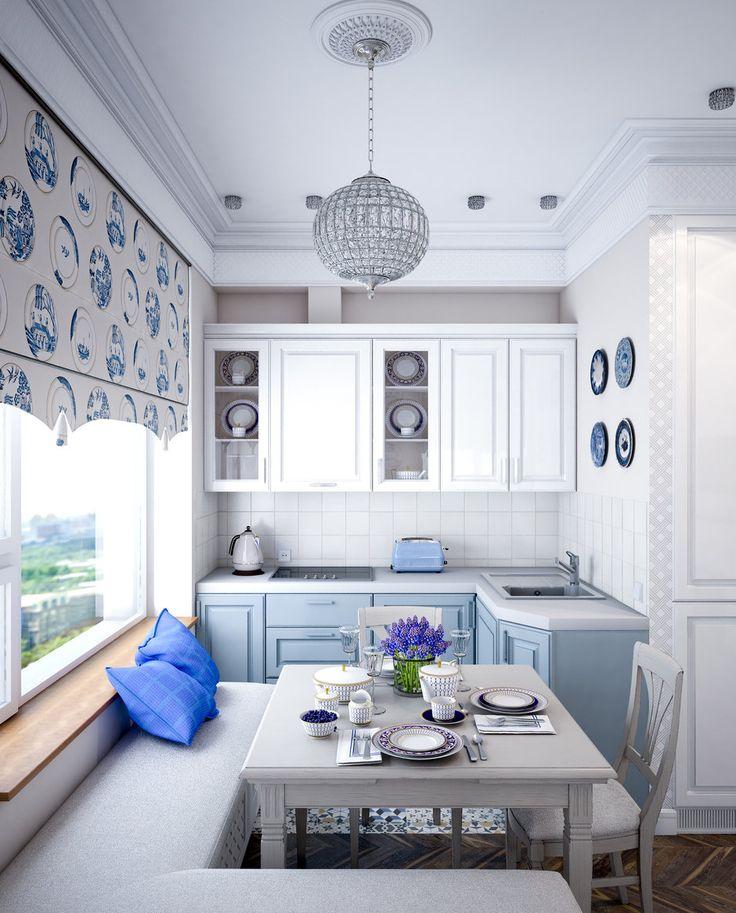 Фотография:  в стиле , Проект недели, Синий, Марина Саркисян, Монолитный дом, 2 комнаты, 40-60 метров – фото на InMyRoom.ru