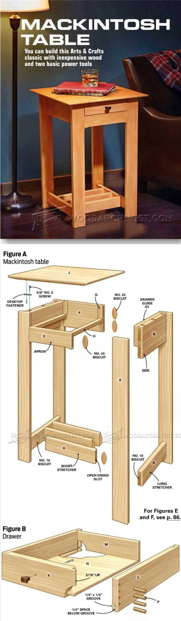 36 best end tables images on pinterest woodworking furniture mackintosh table plans furniture plans and projects woodarchivist woodworking blueprintswoodworking malvernweather Gallery