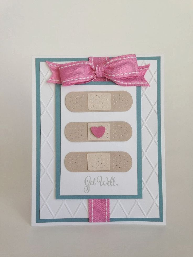Get Well Band aid card with Cricut Everyday Pop-up Cards by Courtney-Lane Designs