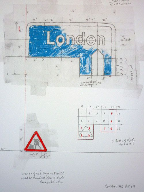 Margaret Calvert – 6 colour screenprint on Somerset Paper, based on a page from Margaret Calvert's sketchbook for Pentagram