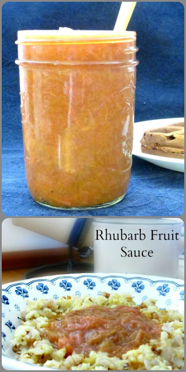 Rhubarb Fruit Sauce is a sour/sweet, brightly flavored condiment. Use with either sweet or savory foods, to add sparkle and interest.