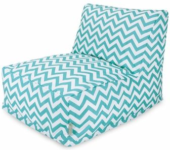 Teal Chevron Bean Bag Chair Lounger, 85907220399 by Majestic Home Goods | BizChair.com
