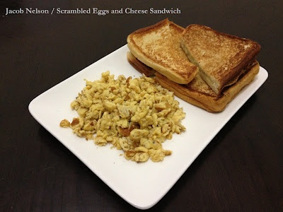 Scrambled Eggs and Cheese Sandwich