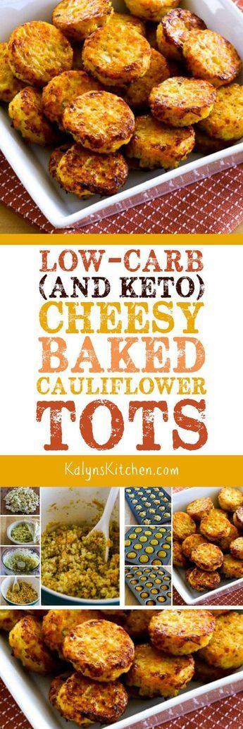 Low-Carb Cheesy Baked Cauliflower Tots auf KalynsKitchen.com   – Keto