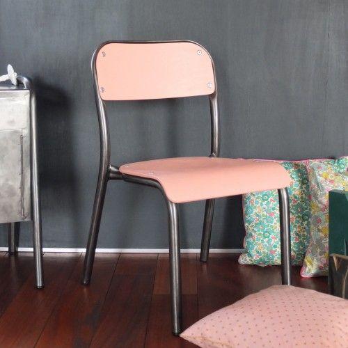 Chaise de maternelle vieux rose poudré - Vintage Magic
