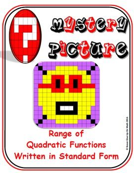 EMOJI - Quadratic Functions - Range of Quadratic Functions (Standard Form)