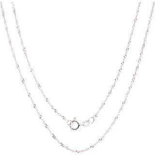 5be82c4cf1b63 Fremada Italian Sterling Silver 1.22mm Singapore Chain (Size: 16 ...