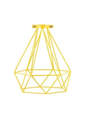 Up-date your decor with these modern industrial style wire lamp shades.