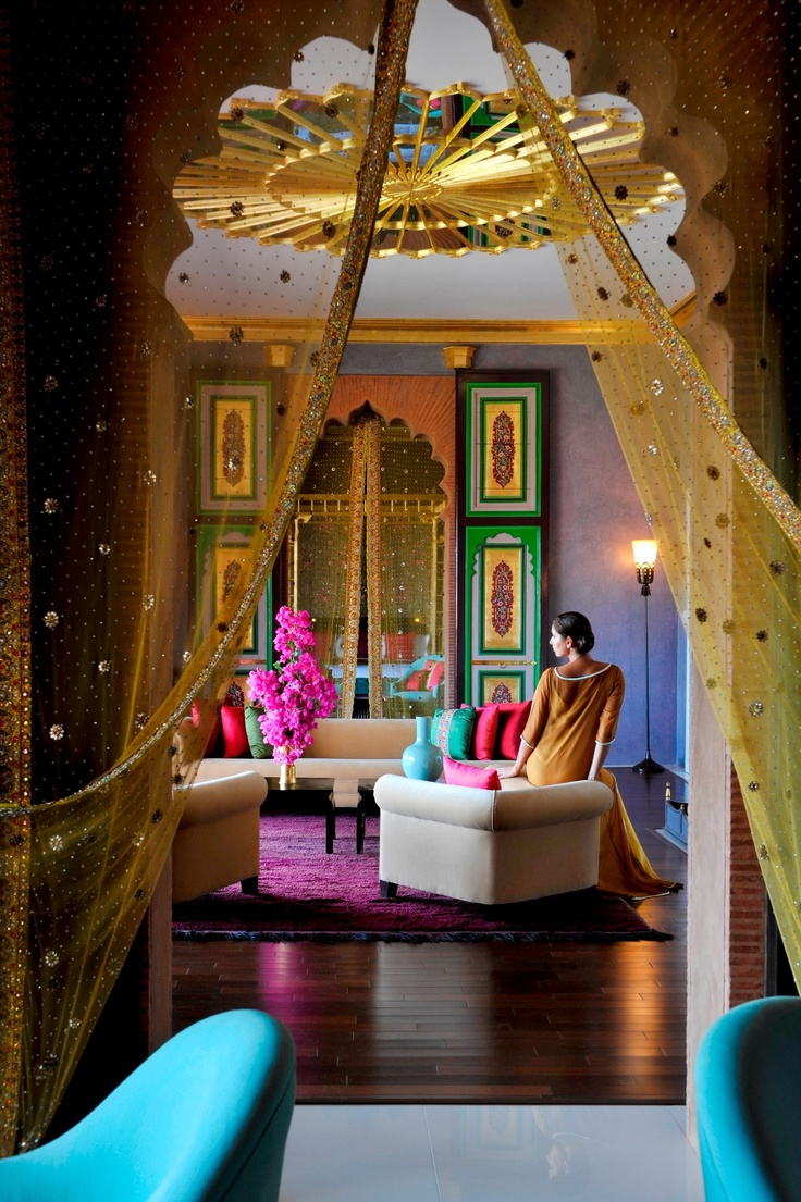 Taj Palace Hotel, Marrakech, Morocco - Fit for a Mughal Princess this is luxurious hotel offers everything you'll need to live a royal life… We love the colours and intricate detailing found here!