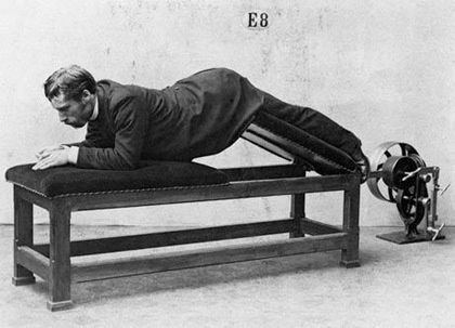 Pictures Of Vintage Exercise Machines | ExerciseProper.  Hmmmm.... exercise-and-fitness-the-endless-battle - 0-ckj: Historical Photo, Fit Equipment, 19Th Century, Sports Equipment, Nature Skin, Workout Equipment, Weights Loss, Exerci Machine, Exerci Equipment