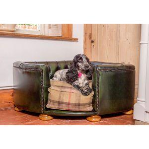 Full Leather Burton Corner Chesterfield Dog Bed £540