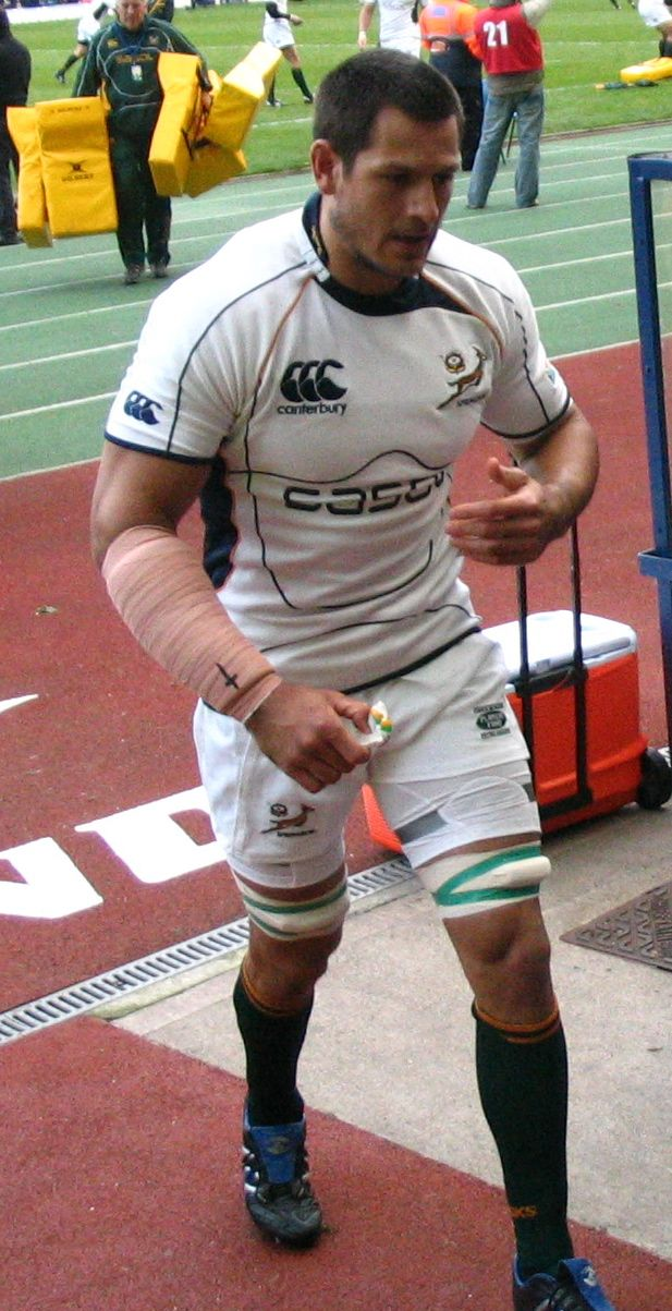 South African rugby player, Pierre Spies