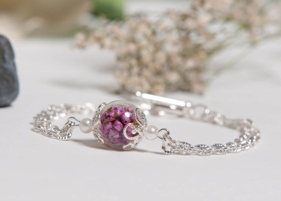 Best Friends Forever Real Pink Heather Flowers by LomharaJewellery