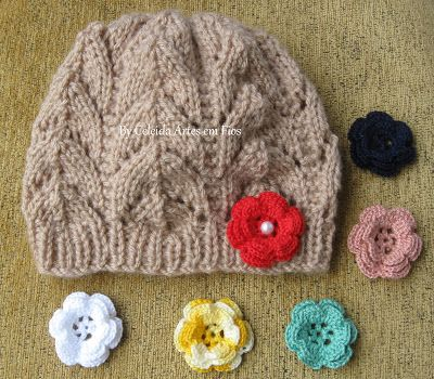 Celeida Artes em Fios: Gorro de tricô - com receita