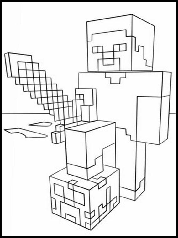 Minecraft 16 Dibujos Faciles Para Dibujar Para Ninos Colorear Minecraft Dibujos Dibujos Para Colorear Minecraft
