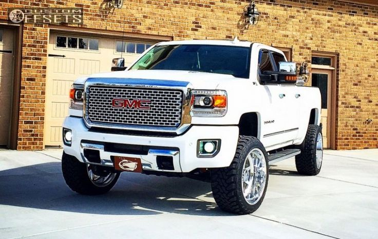 Nice GMC 2017: Wheel Offset 2015 Gmc Sierra 2500 Hd Super Aggressive 3 5 Leveling Kit Custom Rims Check more at http://cars24.top/2017/gmc-2017-wheel-offset-2015-gmc-sierra-2500-hd-super-aggressive-3-5-leveling-kit-custom-rims-2/
