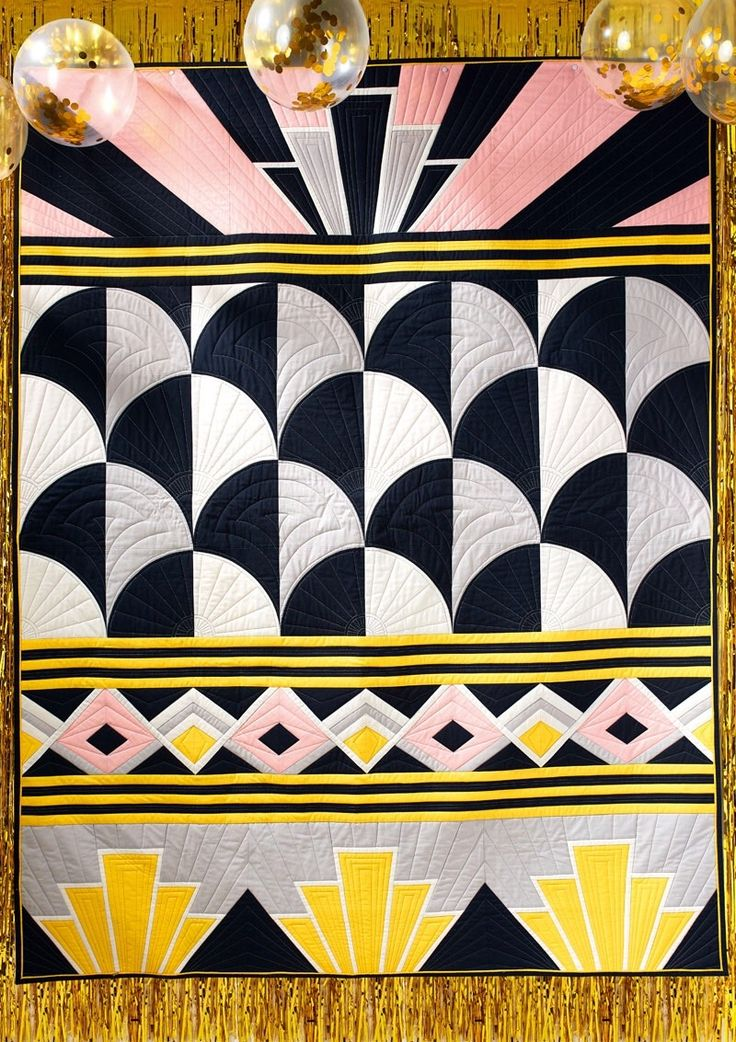 Art Deco Sampler – Love Patchwork and Quilting, Issue 49: I am super excited to share with you the Art Deco-inspired quilt I designed for Love Patchwork and Quilting's latest issue, out today online and on newsstands in the UK!  This quilt was...