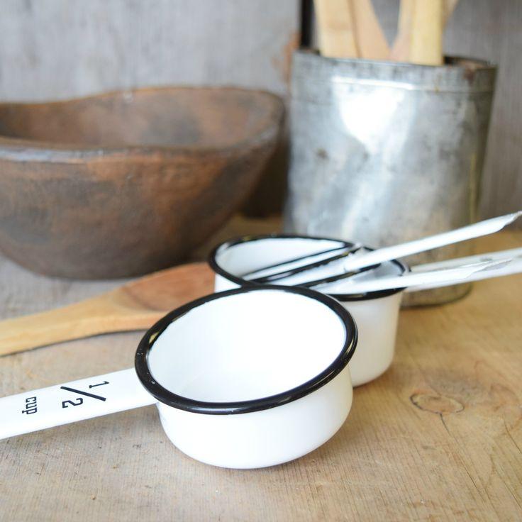 Farmhouse Enamel Measuring Cups - 1803 <3