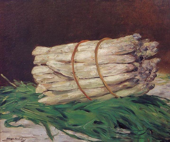 Édouard Manet  エドゥアール・マネ  Botte d'asperges  アスパラガスの束