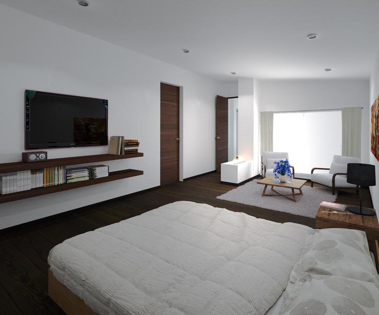 Render interior casa Fontibon en Bogota