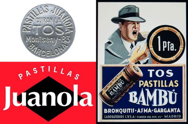 Pastillas contra la tos Juanolas y Pastillas Bambú, años 30