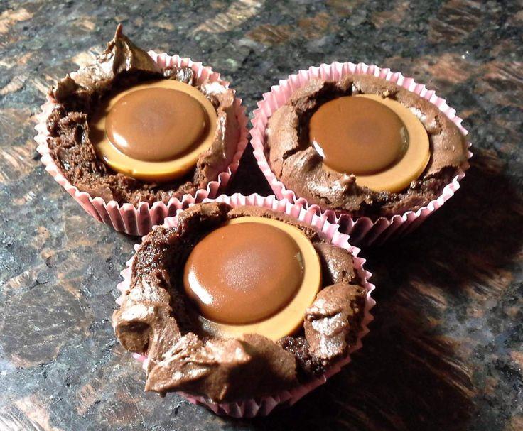 Toffifee-Brownies, schön saftig