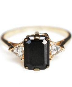 rectangle onyx, diamond, gold
