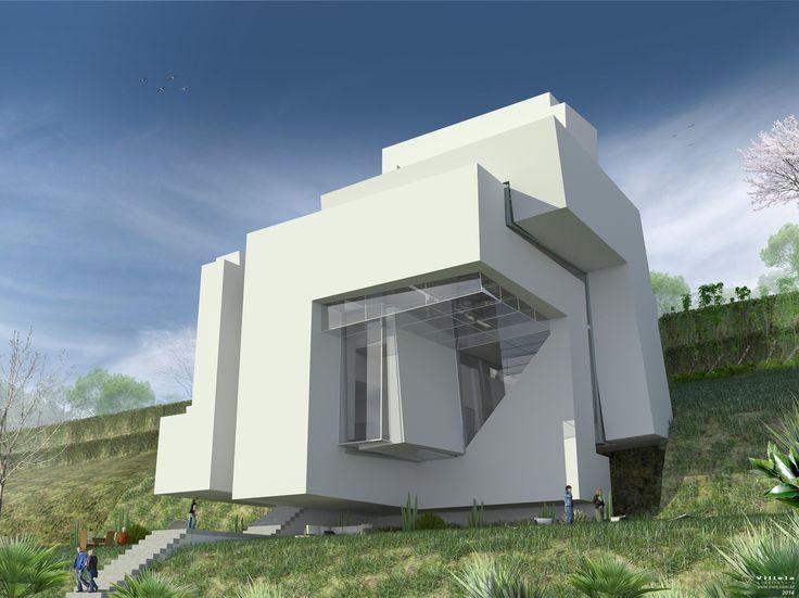 Guardiola House, Peter Eisenman. sempre quis fazer o 3D fiel desta casa nunca construída, levou tempo mas valeu o esforço .