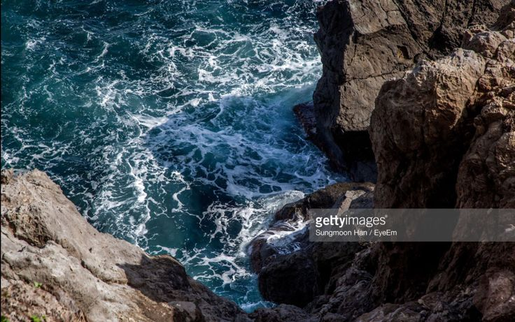 Ulleungdo, Gyungbuk, South Korea (Photo by eyepurifier, Alex SM Han) #Ulleungdo #Gyungbuk #sea #rock #wave #coast #landscape #seascape #Koreatravel #gettyimages #cliff #water #koreatour #southkorea…