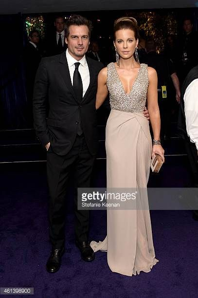 Director Len Wiseman and actress Kate Beckinsale attend the 2015 InStyle And Warner Bros 72nd Annual Golden Globe Awards PostParty at The Beverly...