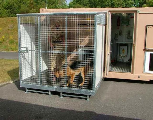 Canil Container para Fins Militares, Domésticos ou Profissionais