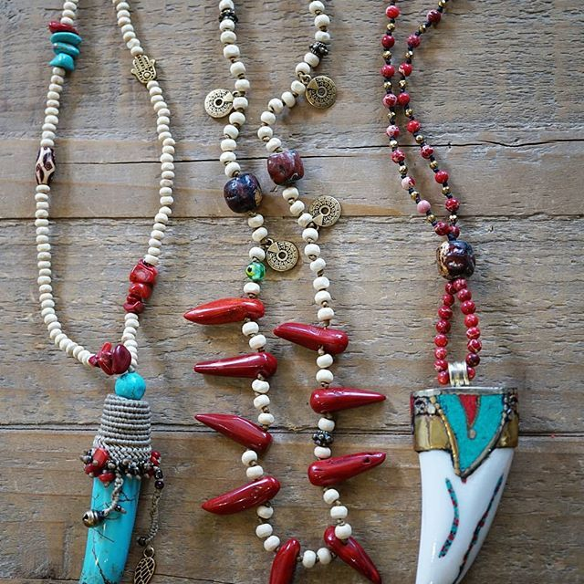 Boho necklaces Bohemian handmade jewelry Your boho chic online shop...