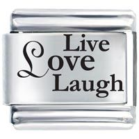 Live Love Laugh Laser Etched Italian Charm Laser Italian Charm Pinterest