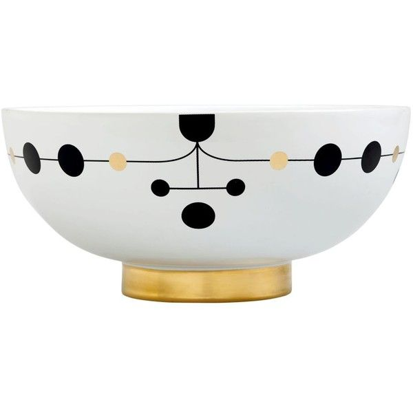 Bosa By Hayon Home Large Ceramic Bowl (3 465 ZAR) ❤ liked on Polyvore featuring home, kitchen & dining, serveware, round bowl, onyx bowl, ceramic serveware, ceramic bowl and black ceramic bowl
