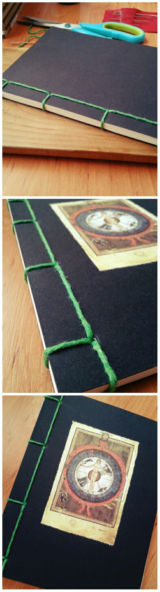 Az első japán kötésem. My first japanese bookbinding. A5