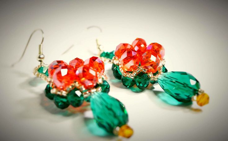 Excited to share the latest addition to my #etsy shop: Earrings 8 http://etsy.me/2Db6Goa #jewelry #earrings #no #women #red #green #womanearrings #earringsgift #fashionearrings
