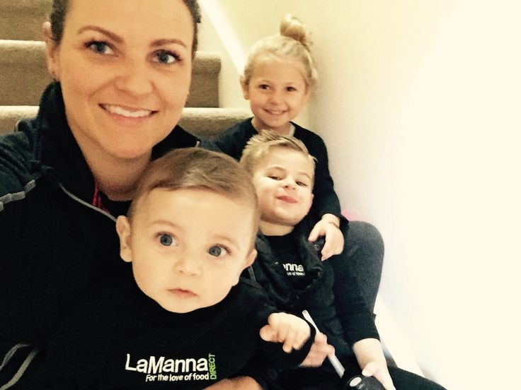 Tanya LaManna - A typical Saturday morning with the kids- ready to go in our uniform on our way to work