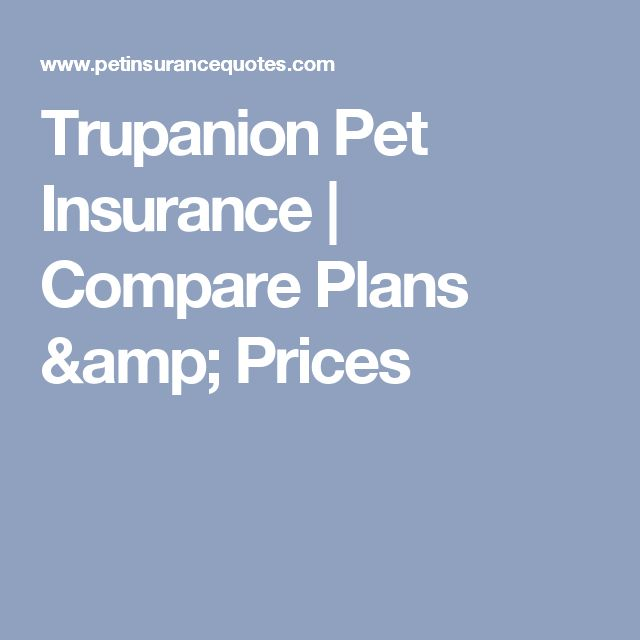 Trupanion Pet Insurance | Compare Plans & Prices