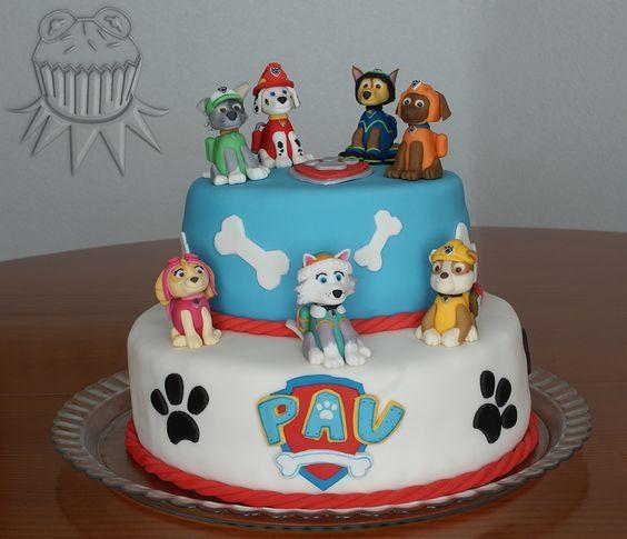 Paw patrol party. Paw patrol cake. Paw patrol pups. Fiesta de la patrulla canina. Tarta de la patrulla canina. Cachorros de la patrulla canina