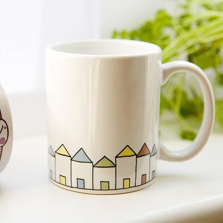 Happy Houses Ceramic Mug by Badgers Badgers