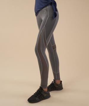 Gymshark Sleek Sculpture Leggings - Charcoal Marl 6