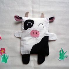 Bouillotte sèche en coton petite vache