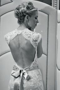Lace bow dress