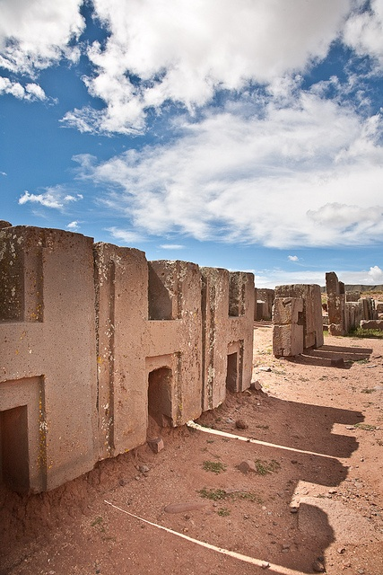 Puma Punku in Tiahuanaco - I do not think ''aliens'' were responsible for building this site, but I think ancient man was far more advanced than we as yet understand. The technology needed here was way beyond any later civilisations.