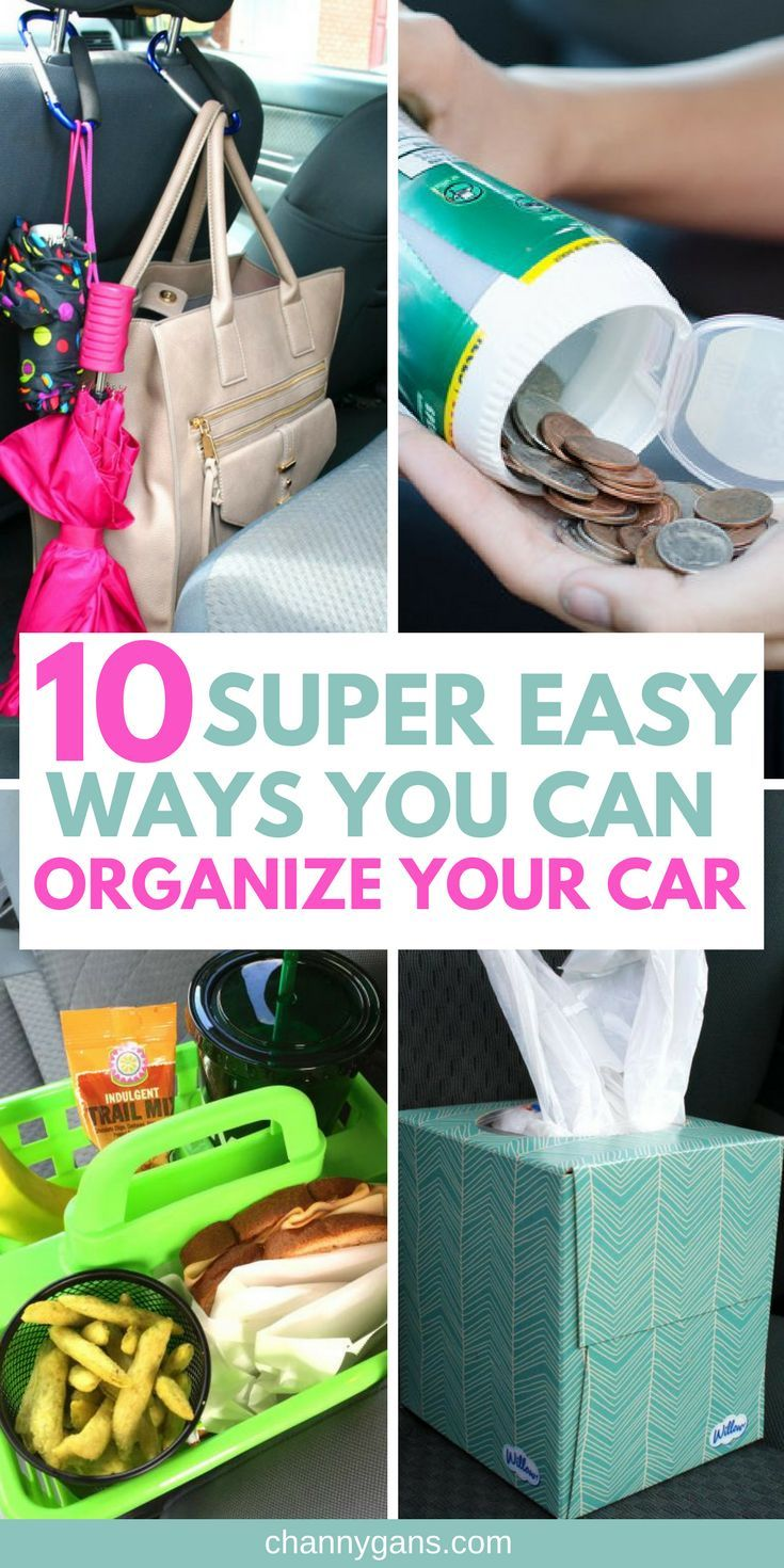 These car organization ideas are AWESOME! Now I can easily organize my car in no time! I'm definitely repinning!#organization#carorganization#organizing