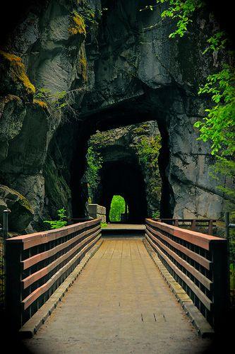 Old Double Railroad Tunnel, Hope, British Columblia photo via ksan