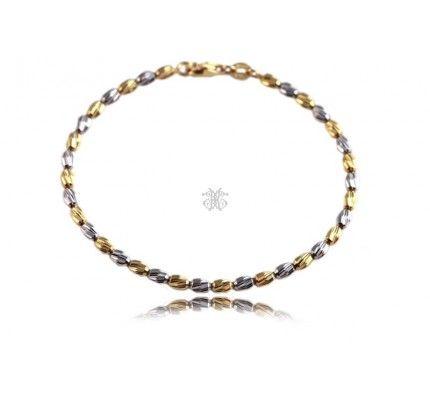 Βραχιόλι λευκόχρυσο και χρυσό #bracelet #whitegold #gold #woman