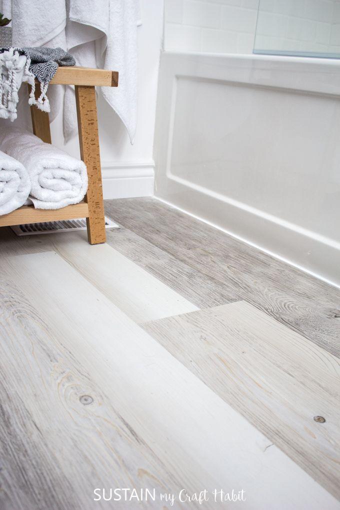 Installating Lifeproof Luxury Vinyl Plank Flooring In 2020 Vinyl Plank Flooring Bathroom Vinyl Flooring Bathroom Bathroom Vinyl
